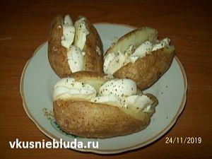 запеченная картошка с моцареллой