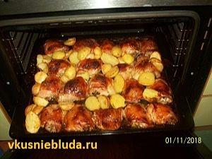 жареные бёдра с картошкой