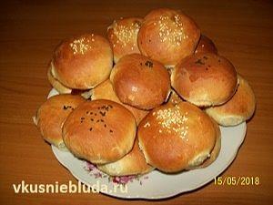 духовые пирожки с грибами и мясом