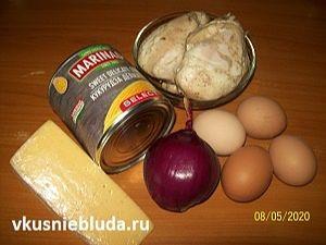 ананасы лук сыр курица