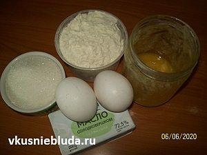 масло яйца мука мёд