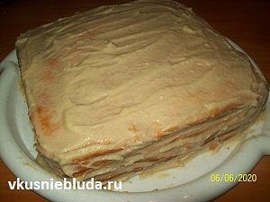 медовик яблочный крем рецепт