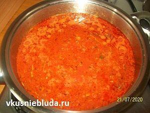 томатный соус митболы