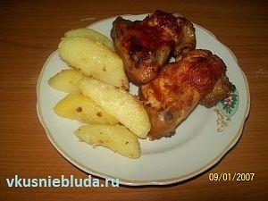 рецепт запеченные куриные крылышки