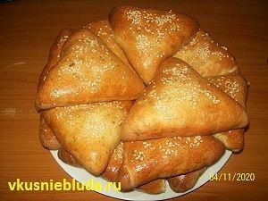 духовые пирожки с горохом