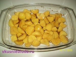 картошка в соевом соусе