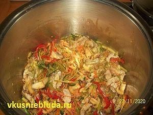 рецепт стир-фрай овощи с мясом