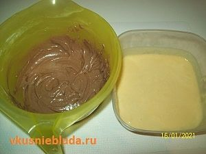 тесто белое и коричневое