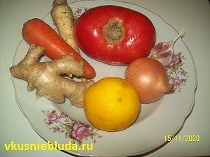 имбирь лимон помидор лук
