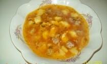 суп с кукурузными клёцками
