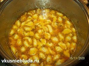суп с кукурузными клёцками рецепт