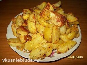 картошка дольками в духовке