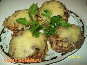 бифштеки с грибами рецепт