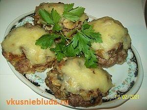 бифштексы с грибами