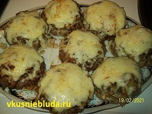рецепт бифштеки с грибами