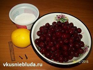 вишни лимон корица гвоздика