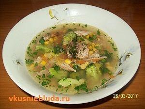 суп с кукурузой и брокколи