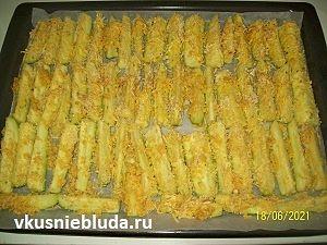 кабачки в панировке