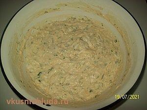 оладьи тесто с начинкой