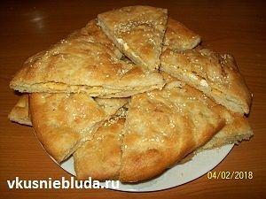 пирог с сыром и базиликом