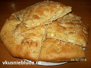 рецепт пирог с сыром и базиликом
