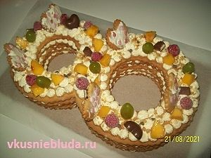 вкусный торт цифра